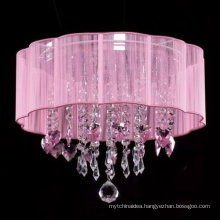 Pink crystal chandelier modern ceiling lamp lovely flower shape chandelier