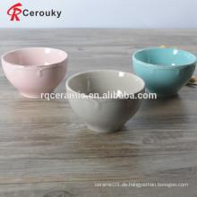 Bunte runde Form Keramik Schüssel