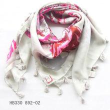 2013 Polyester Arabic Style Schal mit Fransen