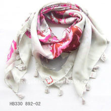 2013 polyester Arabic style scarf with fringe
