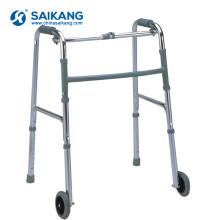 SKE201 hôpital pas cher 2 roues en alliage d'aluminium pliant déambulateur Walker
