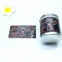 Factory Sell  Custom Silver Foil Adhesive Sticker For Jar