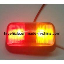 Lámpara lateral de color ámbar / rojo LED para el camión de remolque