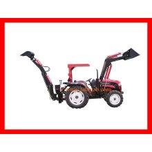 Baldachin-Traktor-Lader mit Löffelbagger