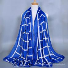 Hochwertige Damen Mode Geometrie Voile Stickerei Schal Dubai muslim Hijab Schal Großhandel