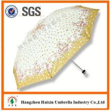 Neueste Fabrik Großhandel Sonnenschirm Print Logo öffnen und schließen Regenschirm