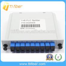 1 * 8 PLC SC / UPC fiber optic plc insert diviseur