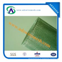 Rede de arame quadrada galvanizada / rede de arame feita malha frisada