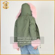 Venta directa de fábrica de invierno Abrigos de largo estilo Fox Lady Fur Parka