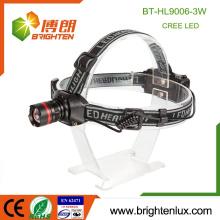 Fabrik Großhandel gute Qualität 3 Modi Camping Aluminium 3W XPE führte einstellbare Fokus Zoom Hochleistungs-Scheinwerfer mit Kopfband