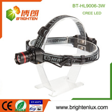 Factory Wholesale Good Quality 3 modes Camping Aluminum 3W XPE led Adjustable Focus zoom High Power Headlamp with Head Strap