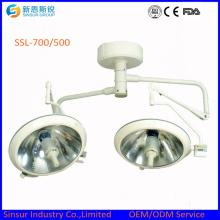 Krankenhaus Chirurgische Decke Doppel Head700 / 500 Shadowless Medizinische Betriebsleuchte / Lampe