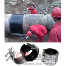 Abrazadera de reparación de acero inoxidable flexible RCD en accesorios de tubería