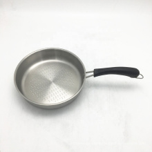 Low price Promotional 8 inch fry Pan Stainless steel oil free Fry pan with Handle