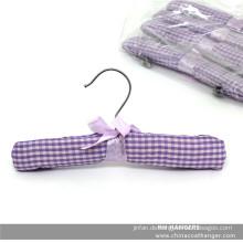 Raster Baumwolle Kinder gepolsterte Kleiderbügel Kinder Satin Bügel
