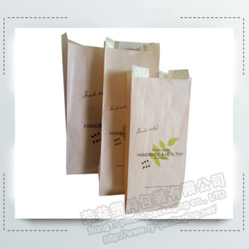 Custom Printed Kraft Paper Baguette Bakery Bread Bags