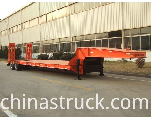2 axle 40Ton low bed trailer truck