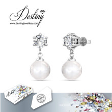 Destiny Jewellery Crystals From Swarovski Stud Pearl Earrings