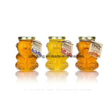 500g 16oz Bear Shape Clear Empty Honey Glass Jar