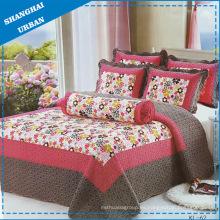 Edredón de ropa de cama con estampado de algodón de 6 piezas (juego)