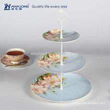 Western Design Daily Керамическая трехуровневая фарфоровая десертная тарелка, керамическая круглая кекса