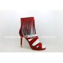 Beliebte sexy High Heels Red Lady Strap Sandale