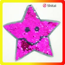 Fashion star sequins patches with cheaper price