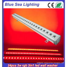 24x3w rgb 3in1 ip66 led flood light led wall washer light