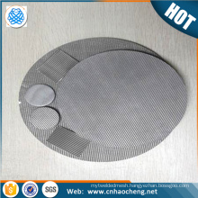Heat resistant 100 200 micron hastelloy c22 c276 monel 400 sintered filter cloth/square wire mesh