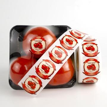 Customized self adhesive printed food packaging labels