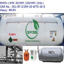 Soem vorhandenes Kühlgas hfc-R407C Unerfüllbarer Zylinder Ausgezeichnete Klasse Hafen in Singapur-Markt
