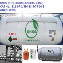 OEM available refrigerant gas hfc-R407C Unrefillable Cylinder 1000g Port for Indonesia market
