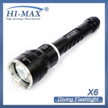 HI-MAX X6 competitive self-defend lotus attack head cree led handheld dive torches