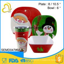 обеспечение качества небьющиеся меламин Рождество 16 шт посуда установить