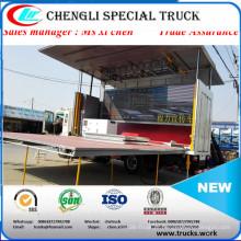 4meters comprimento DFAC Dongfeng 4x2 carroça palco caminhão