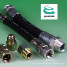 High pressure washing hose made of rubber. Manufactured by Togawa Rubber Co., Ltd. Made in Japan (car wash hose)