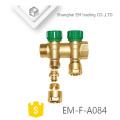 "EM-F-A084 Messingkompressionsverbinder 1 ""Dreiwegverteiler-Fußbodenheizungsrohr"