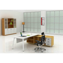 Fashion Wooden Office Furniture Manager Table with Metal Leg (HF-MB010)