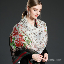 Silk Arranges Concerning Georgette Scarf Woman