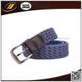 Wholesale Stretch Braided Elatic Woven Belt with Pin Buckle Buckle