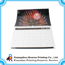 New design CMYK recyclable popular tear off paper wall calendar