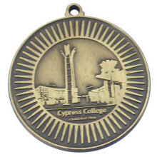 Colorless Medal Antique Brass Plating