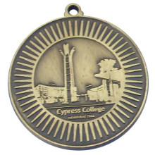 Бесцветная медаль Античная латунь