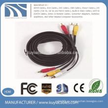 Rendimiento 1,5 m 3 RCA a 3 RCA Audio Video Cable AV macho a macho