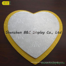 MDF with Foil Paper Heart Shape Cake Drums, Cake Boards with SGS (B&C-K072)
