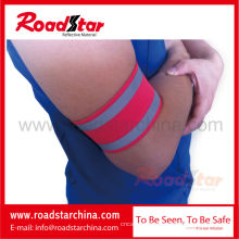 Brassard réfléchissant de sécurité réglable sport avec crochet et boucle