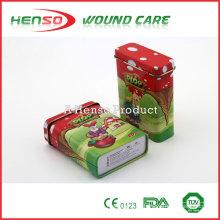 HENSO impermeable Estéril Caja de estaño personalizado impreso Band Aid