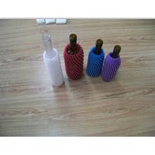 Douille en verre jetable colorée jetable de bouteille de mousse d'EPE faite en Chine