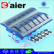 6 Schalter LED Schalttafel 12V / 24V