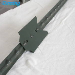 Easy Assembled Durable Studded Staket T Metal Post